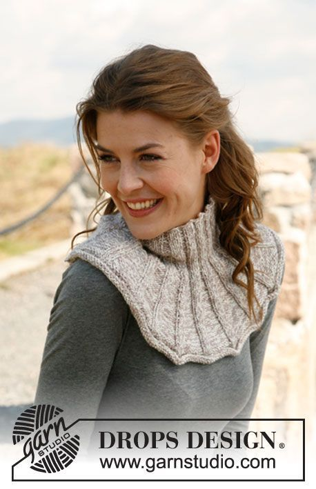 """Knitted DROPS neck warmer in 2 strands """"Baby Alpaca Silk"""". ~ DROPS Design  I really like this neck warmer - very pretty!"""