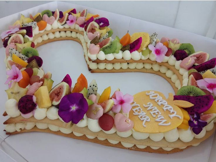 Number  Cake Decorated With Candy