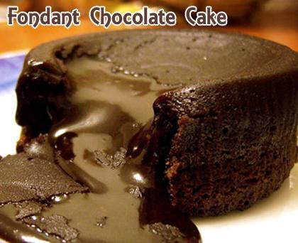 Fondant Chocolate Cake Recipe from Grandmother's Kitchen