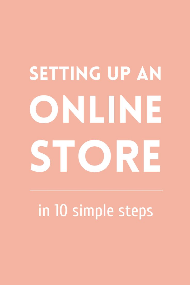 Setting up an online shop