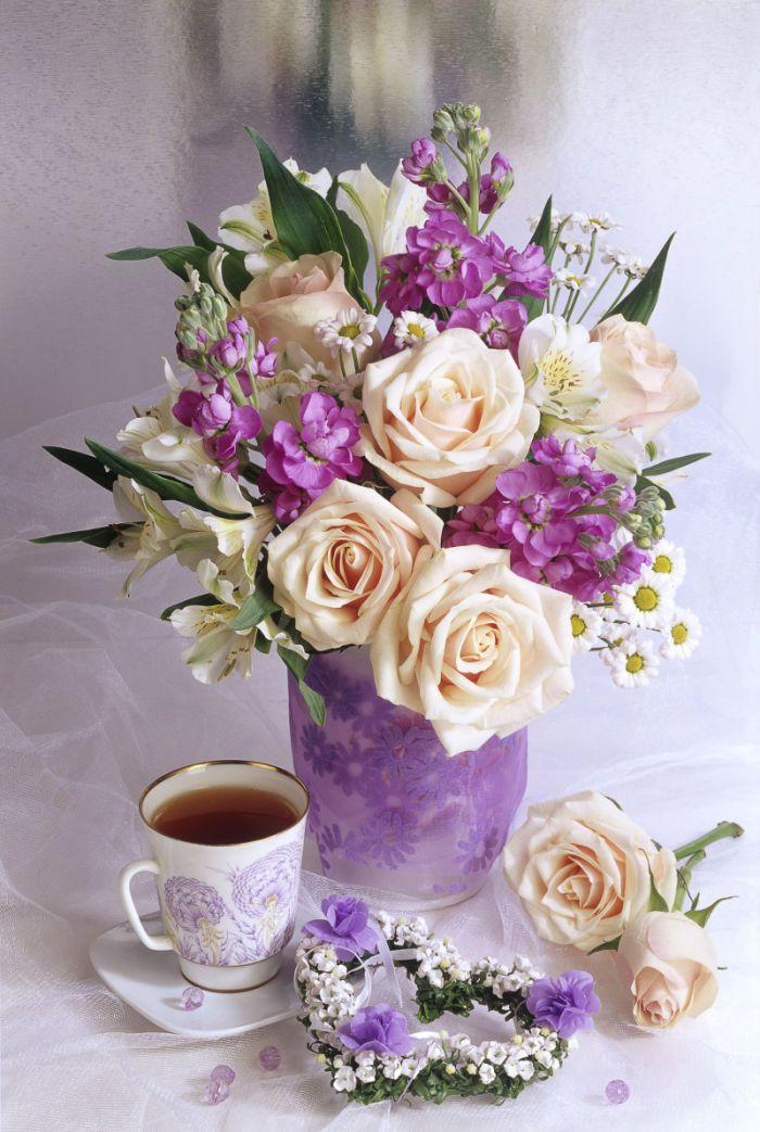 Февраля, красивые открытки с цветами доброе утро