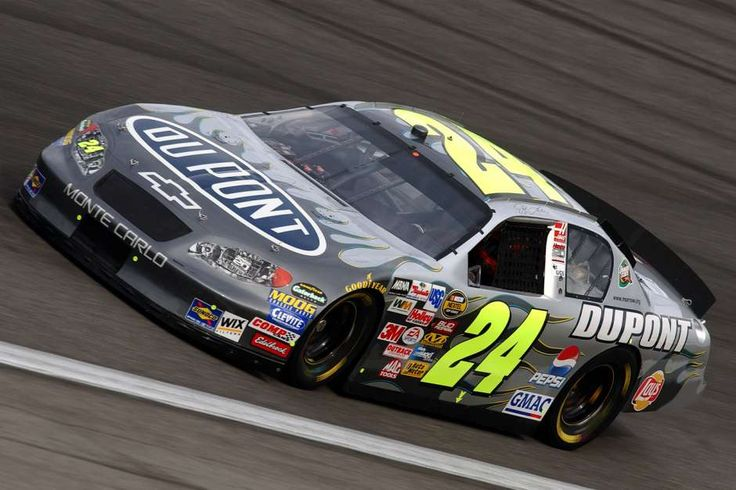 Jeff Gordon #24 silver Dupont Chevy at Charlotte - Oct 14, 2004 | FOX Sports