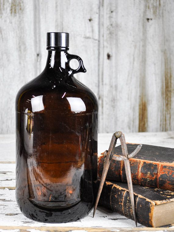 Large Dark Brown Apothecary Glass Bottle with by RusticRealm, $65.00