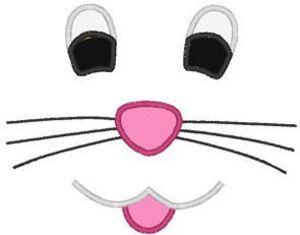 Easter Bunny Face Smile Embroidery Machine Applique Design D Bd A Clip Art