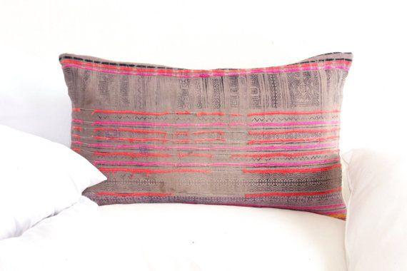 Nautische Boho VINTAGE HMONG textiel Batik Hand door LUVTEXTILES