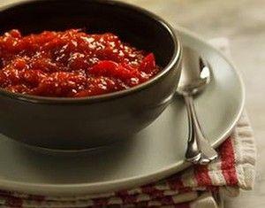 Tomato, capsicum and chilli chutney