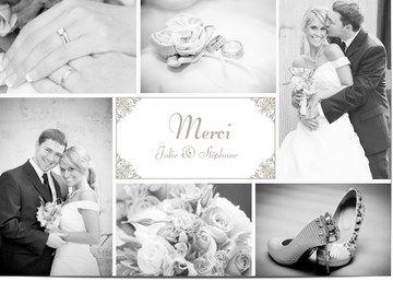 Carte remerciement mariage personnalisées avec photo   Optimalprint Suisse