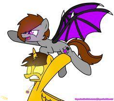 enderlox and skydoesminecraft ponies