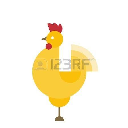 haan kippen: Rooster - een symbool van de nieuwe 2017 volgens de Chinese kalender. Vector illustratie van leuke haan. cartoon vector illustratie van de haan