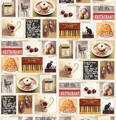 панно с открытками для кухни 365109 Eijffinger