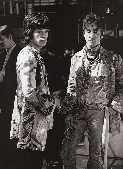 British pirates. Jagger and Lennon
