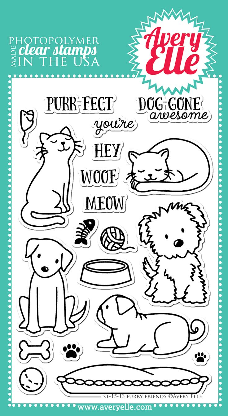 Furry Friends - #AveryElle #CHA #scrapbook