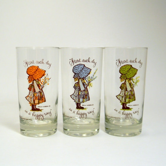Holly Hobbie Glasses... the 70's are vintage!!