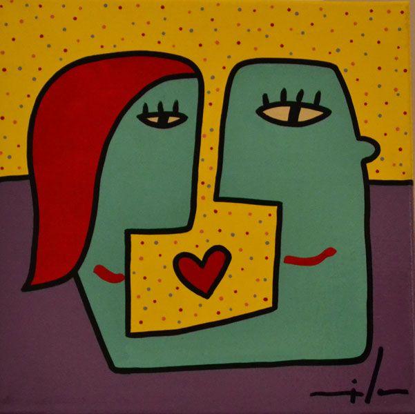 Pintura sobre tela - 40 x 40 cm