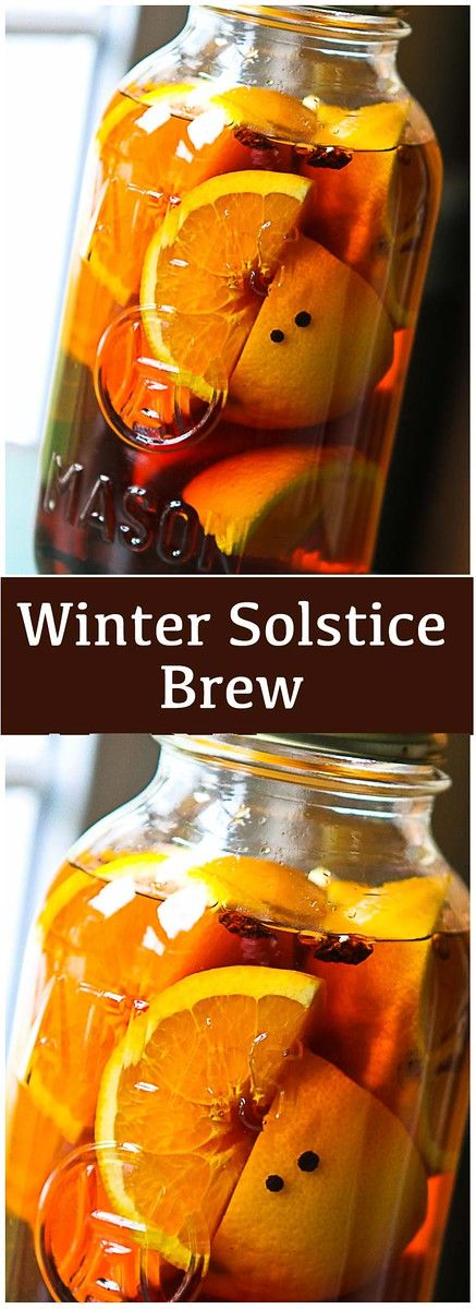 Winter Solstice Brew - Brandy is infused with of anise, cinnamon, vanilla, orange and black pepper!