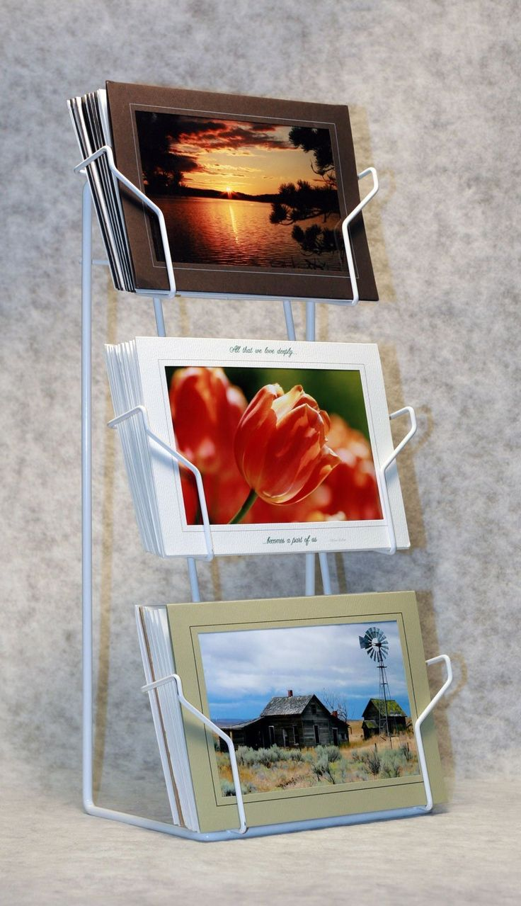 Rens thoughts lightweight collapsible greeting card display stand rens thoughts lightweight collapsible greeting card display stand use baskets and ziptie together to make something similar pinterest card displays kristyandbryce Images