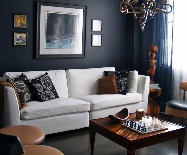 Die Besten 25+ Anthrazitfarbene Wohnzimmer Ideen Nur Auf Pinterest ... Wohnzimmer Blau Weis Grau