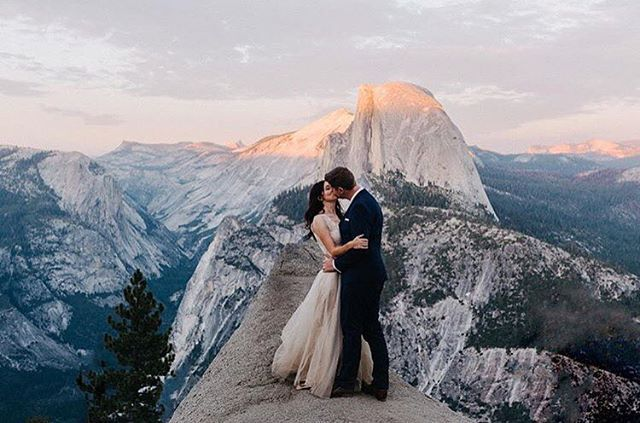 This Yosemite wedding portrait is unbelievable! Great work @dylanmhowell! #weddingdaydestination