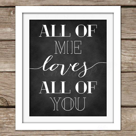 Love Wall Art - DIY, Instant Download, Printable, John Legend, Wedding, Bridal Shower, Engagement, Couples Shower