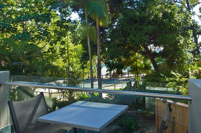 Little Cove Court - two bedroom apartment balcony - Little Cove Apartments