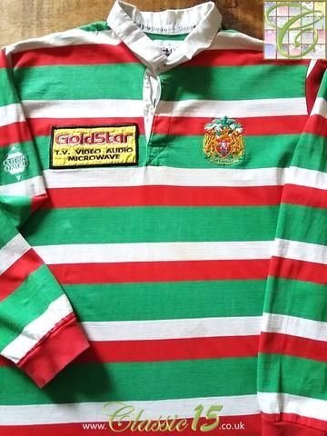 Relive Leicester Tigers' 1995/1996 season with this original Cotton Oxford home long sleeve rugby shirt.