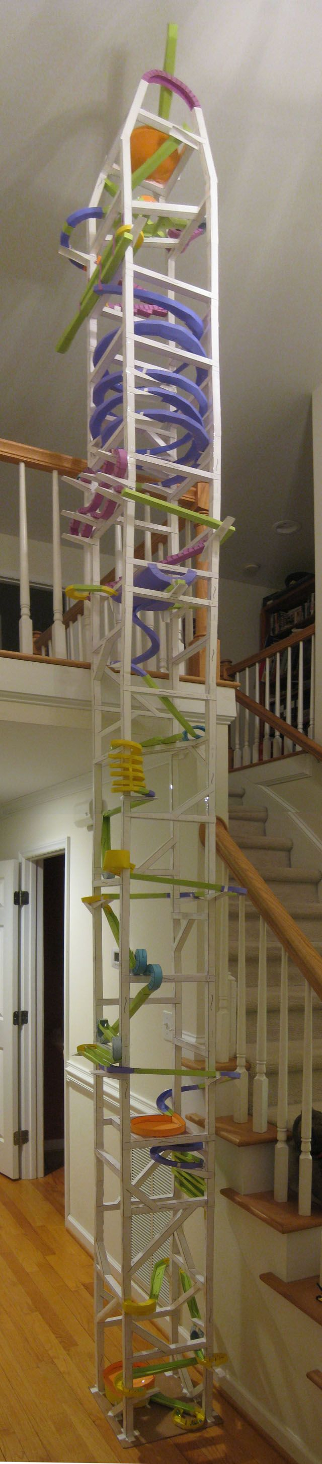 make this with my kids. They love throwing balloons, stuffed animals and parachute men over the balcony in our foyer. This would blow their mind!