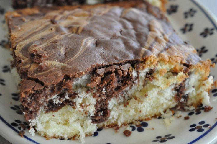 Marmorkage med chokolade - tigerkage - en skøn klassisk formkage :-)