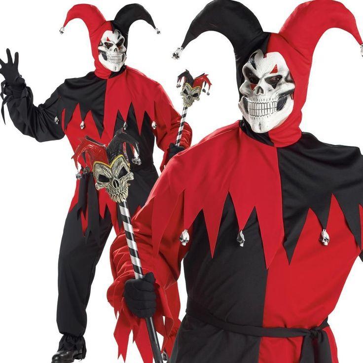 Disfraz Bufón Demonio Halloween Medieval Hombres Adulto Traje XXXL 3 XL | eBay