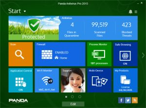 Panda Antivirus Pro 2015 Free Download:  Panda Antivirus Pro 2015 is easy-to-use antivirus software that provides basic satisfactory protection against viruses, rootkits, spyware and online fraud. It ensures safe web browsing by providing real-time protection  Read Fully and Download link: http://downloads2all.com/panda-antivirus-pro-2015-free-download/
