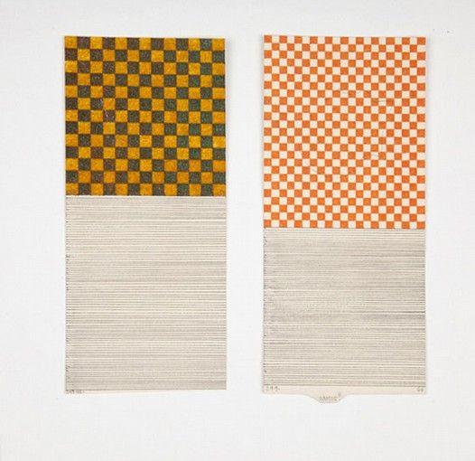 José Antonio Suárez Londoño, Dibujos con renglones - Pareja No 1, 2011, mixed media on paper, 28 x 20 cm.