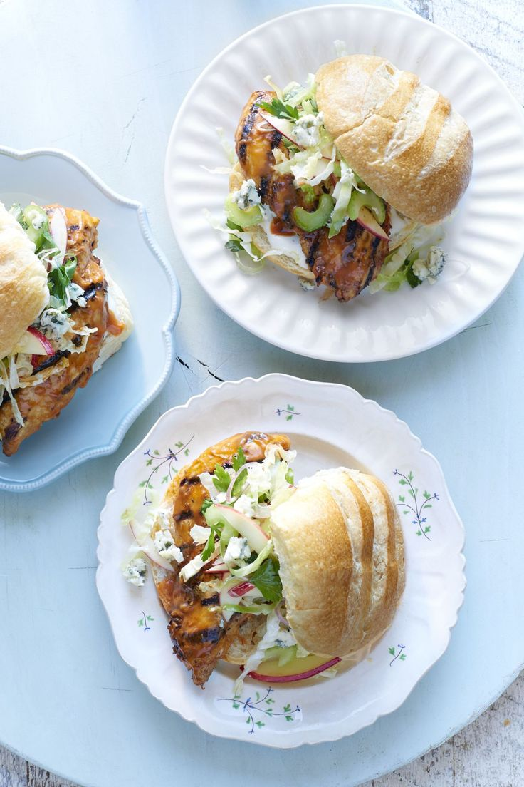 Grilled Buffalo Chicken Sandwiches  - CountryLiving.com