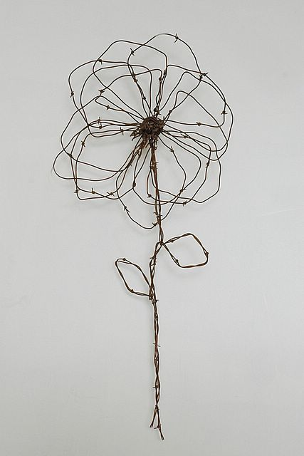 Wire flower art
