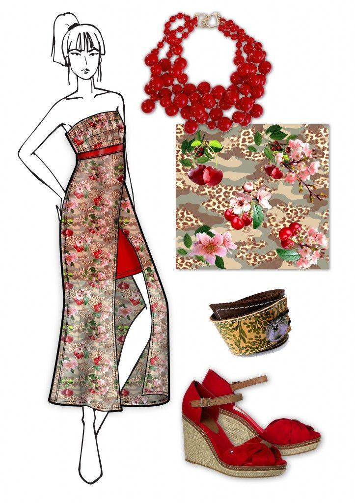 Printed Chiffon Dress - Abito in Chiffon stampato  - Spring Fashion Trends 2014 - Elisa