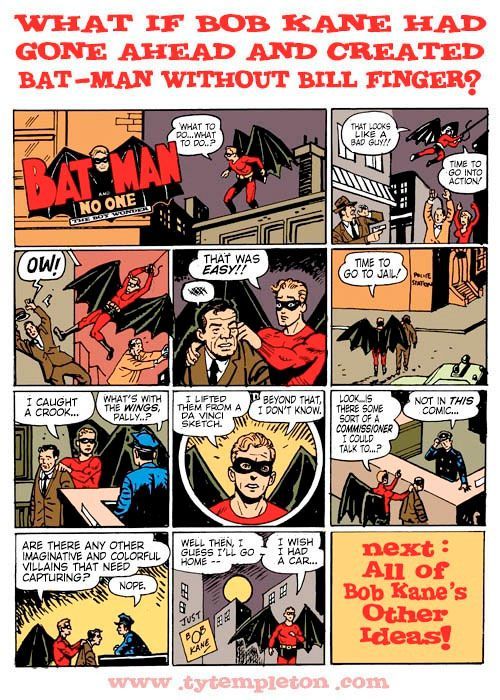 Ty Templeton Draws Batman As Created By Bob Kane And Nobody Else