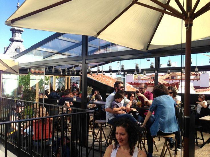 The hat rooftop bar (hostel near plaza mayor)
