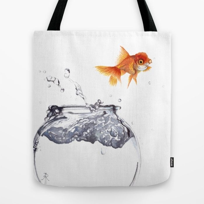 Goldfish Tote Bag by The Willow Wood Studio | Society6