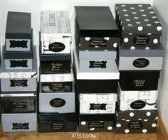 Boîtes à chaussures relookées