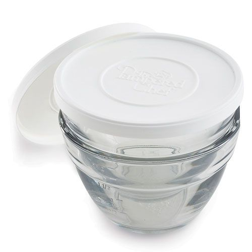 3 Cup Prep Bowls (Set of 2) Heavy duty with covers which is great if you have to step away from the kitchen or get interrupted.
