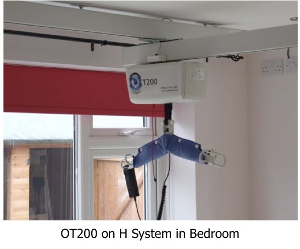 Connecting room to room with a patient ceiling hoist. Part of the wider range of products from #opemed. See www.opemed.net for more information.