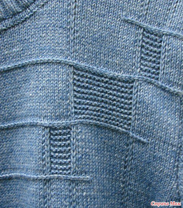 Синий свитер)) или Jon`s sweater by Sarah Wilson