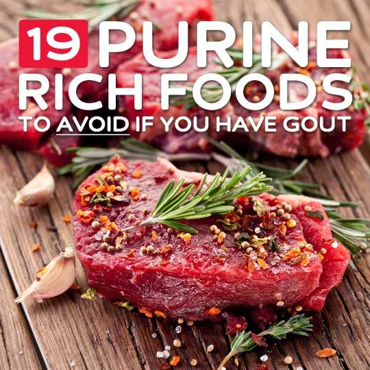 19 High Purine Foods to Avoid- if you have gout.