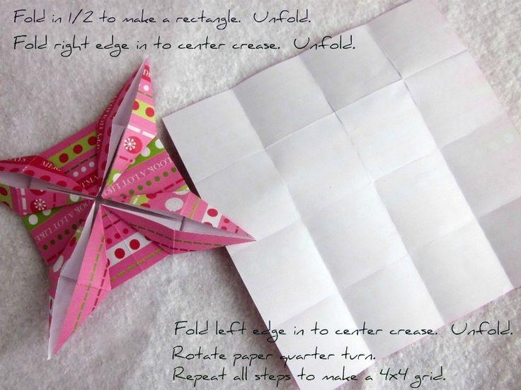 Origami Christmas Stars Step 1