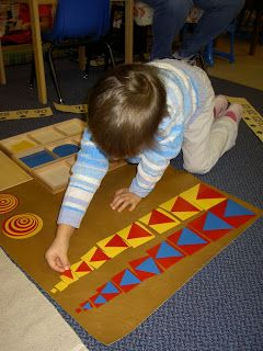 Geometric shapes extension work -  Inspired Montessori and Arts at Dundee Montessori: