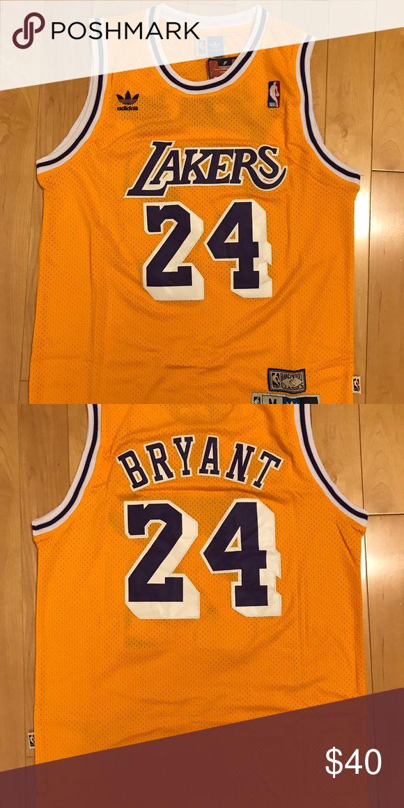 Brand New Los Angeles Lakers Kobe Bryant Jersey NWT Retro #24 kobe jersey.  MEN SIZE adidas Tops