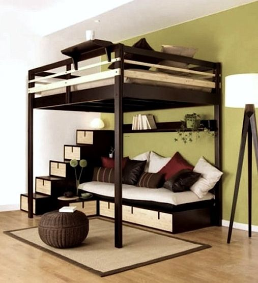 I need this, my new room is going to be kind of small so I can see something like this. The lounge area supplies plenty of space with style. ~ErickaLindsey
