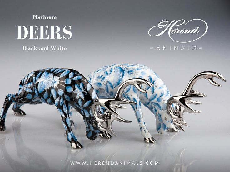 Platinum #Deers of #Herend are the flagships of the modern Herend Style. They are among us no longer than 4 years. Platinum represents the cold power - a pure style. This is why it is a beloved gift item.