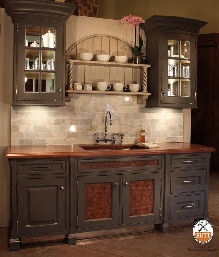 Black Kitchen Cabinets With Butcher Block Countertops: 24 Best Crema Bordeaux Granite Images On Pinterest