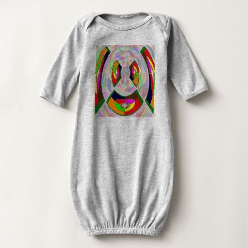 Baby Long Sleeve Gown GRAPHIC ZOMBIE Cartoons Tee Shirts