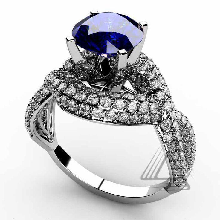 anillo sstras  y oro blanco