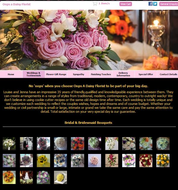 websites wedding flower pictures